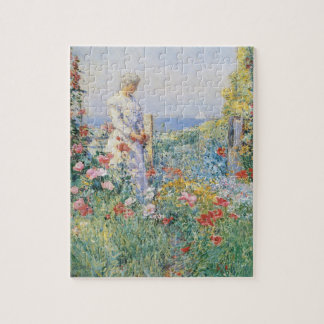 In the Garden by Childe Hassam, Vintage Fine Art Jigsaw Puzzle