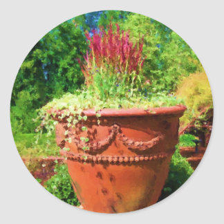 In the Garden Classic Round Sticker