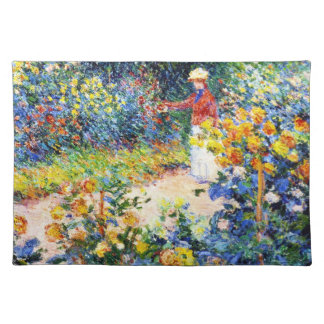 In the Garden Claude Monet woman painting Placemat