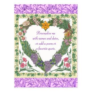 In the Garden Love Wreath Valentine Postcard