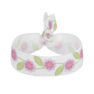 In the Garden Pink Floral Hair Tie