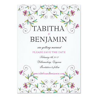 In the Garden - Save the Date Card