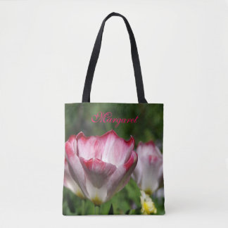 In The Garden with Tulips Tote Bag