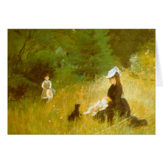 In the Grass by Berthe Morisot Card