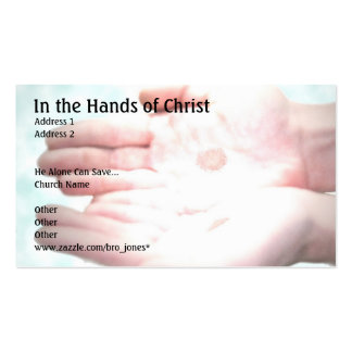 In the Hands of Christ Pack Of Standard Business Cards