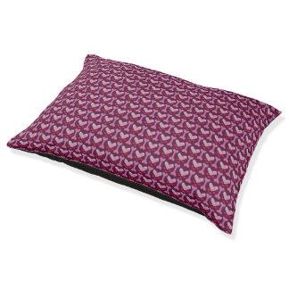 In the Heartland - Maroon Dogs! Bed Large Dog Bed