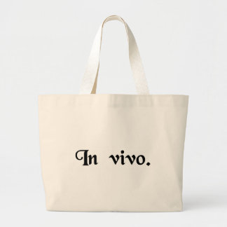 In the living. canvas bag