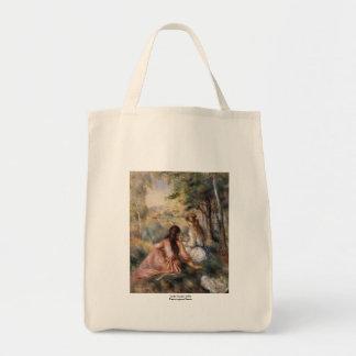 In the Meadow by Pierre-Auguste Renoir Tote Bags