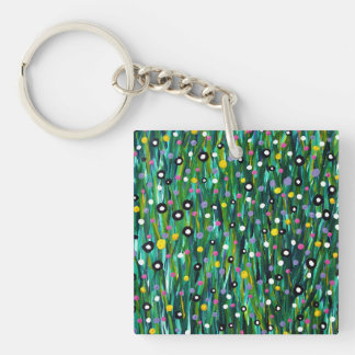 In The Meadow Double-Sided Square Acrylic Keychain