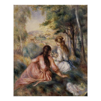 In the Meadow ~ Pierre-Auguste Renoir Poster