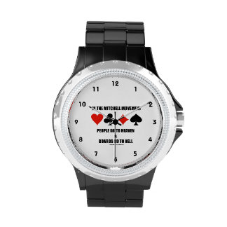 In The Mitchell Movement People Go To Heaven Hell Wristwatches