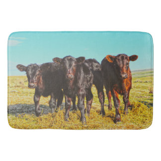 In the Mood for Hay Bath Mat Western Cattle