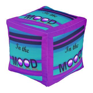 IN THE MOOD Fun Pouf-Purple/Pink/Aqua/Blue Pouf