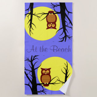 In the Moonlight Beach Towel