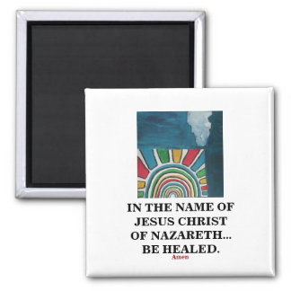 IN THE NAME OF JESUS CHRIST MAGNET