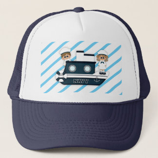 In the Navy Sailor Boat Stripes Blue Hat