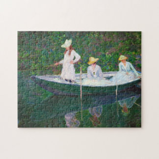 In the Norwegian Boat at Giverny Claude Monet Jigsaw Puzzle