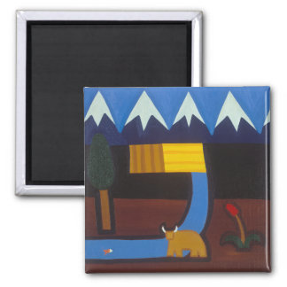 In the Peruvian Mountains 2006 Square Magnet