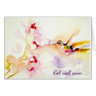 """""""In the Pink"""" Hummingbird Get Well Card"""