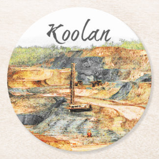 In the Pit - Koolan, Round Paper Coaster