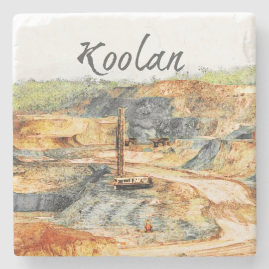 In the Pit - Koolan Stone Beverage Coaster