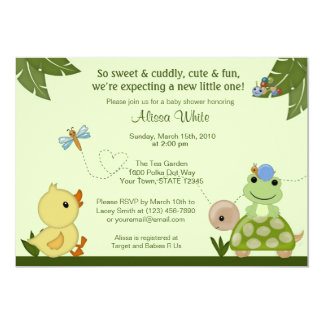 In The Pond Baby Shower Invitation duck frog