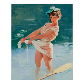 In the Pond Pin Up Poster