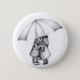 in the rain 2 inch round button