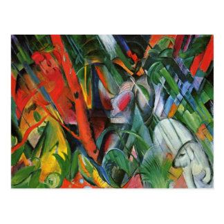 In the Rain by Franz Marc Postcard