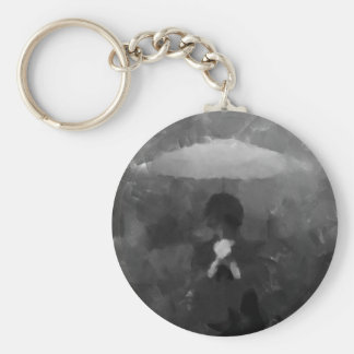 In the Rain Dark Art Painting Keychain