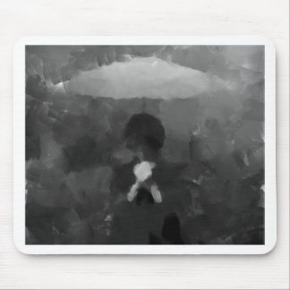 In the Rain Dark Art Painting Mouse Pad