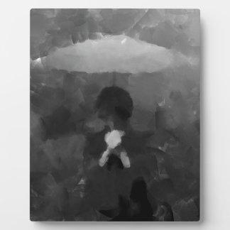 In the Rain Dark Art Painting Plaque