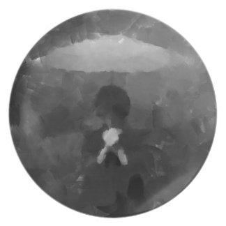 In the Rain Dark Art Painting Plate