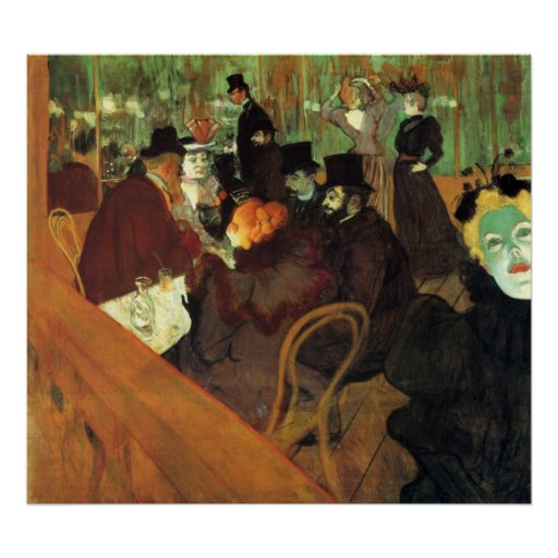In the Rouge by Toulouse-Lautrec Print