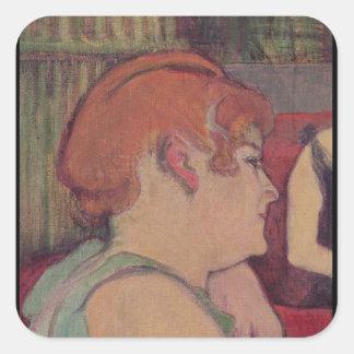 In the Salon at the Rue des Moulins Square Sticker