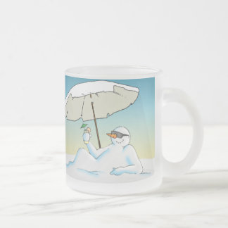 In the Shade 10 Oz Frosted Glass Coffee Mug