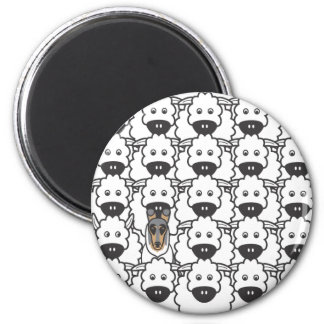 In the Sheep 2 Inch Round Magnet