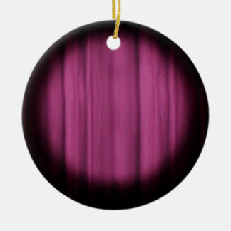 In the Spotlight Center Stage Curtain Background Round Ceramic Ornament