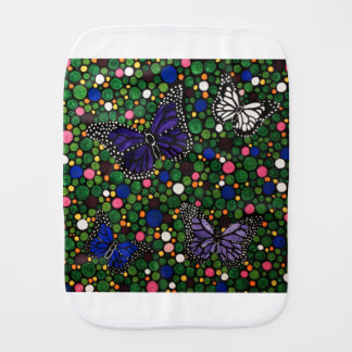 In the spring garden burp cloth