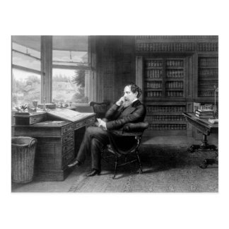 In the Study of Charles Dickens Postcard