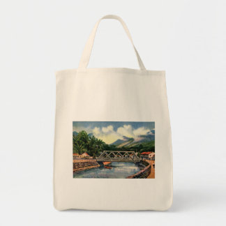 In the Suburbs, Honolulu, Hawaii Vintage Tote Bag