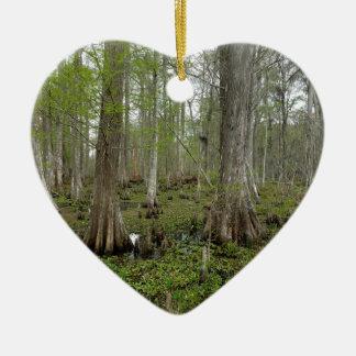 In the Swamp Ceramic Heart Ornament