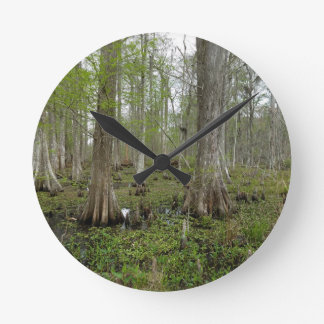 In the Swamp Round Clock