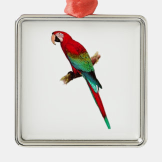 In The Tiki Room Silver-Colored Square Ornament