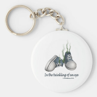 In the Twinkling of an Eye Basic Round Button Keychain