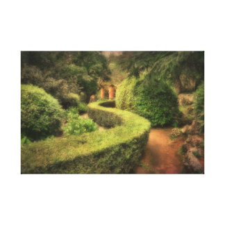 In the Villa Cimbrone Ravello Italy Canvas Print