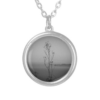 In the Weeds Silver Plated Necklace