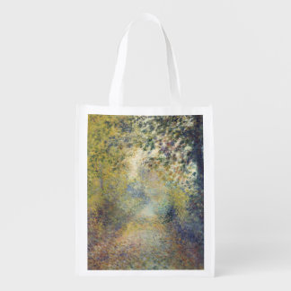 In the Woods by Pierre-Auguste Renoir Reusable Grocery Bags