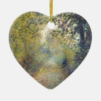 In the Woods Ceramic Heart Ornament