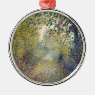 In the Woods Silver-Colored Round Ornament